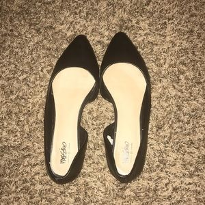 Mossimo black pointy toe flats